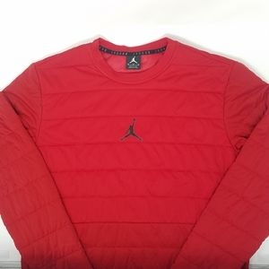 Nike Jordan Aero Layer Tech Sweatshirt Quilted Red